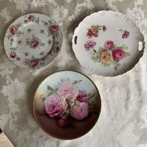 Three Pink Floral Rose Design Antique Plates. for Sale in Auburn, WA