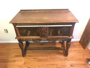 Antique oak sideboard or for Sale in Vienna, VA