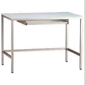 CB2 Trig Frosted Glass Computer Desk, Console Desk and 3 shelf Unit for Sale in Miami, FL