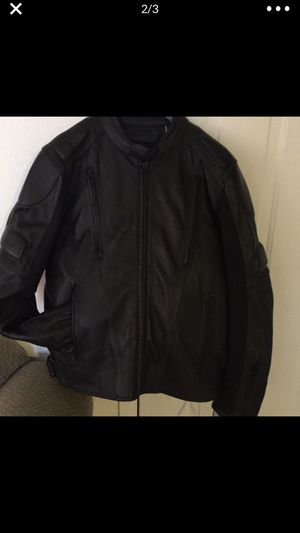 Jacket leather motorcycle for Sale in Kissimmee, FL