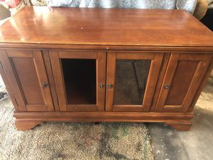 Tv stand broken window for Sale in Vancouver, WA