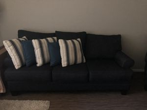 Navy Blue Sofa with matching Chair and Ottoman for Sale in Phoenix, AZ
