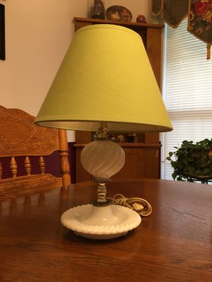 Antique Milk Glass Lamp for Sale in Boiling Springs, SC