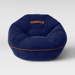 Bean Bag Chair With Suede Piping Navy - Pillowfort for Sale in El Monte, CA