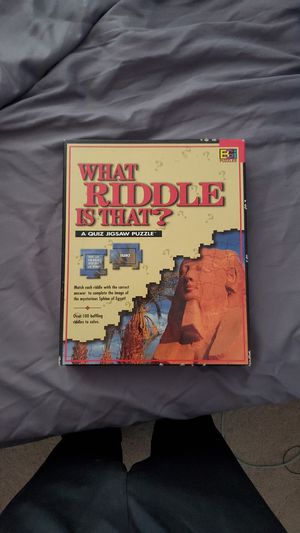Rare Puzzle Game Called: What Riddle Is That? for Sale in Raleigh, NC