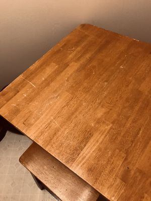 Small kitchen table with 4 stools for Sale in Grapevine, AR
