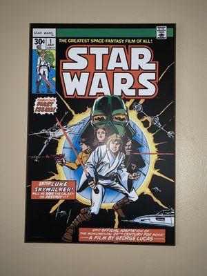 Star Wars Comic Book #1 Wood Art for Sale in Pasadena, CA