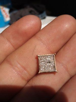 14k yellow gold diamond earrings for Sale in Litchfield Park, AZ