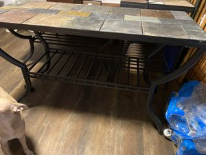 40 inch side to side- sofa table- moveable tiles- unique $35 for Sale in Sandy, OR