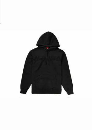 Supreme Men's Set In Logo Hooded Sweatshirt M-Black SS19 for Sale in Garden Grove, CA