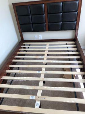 Queen bed frame, Queen mattress, & nightstand for Sale in Falls Church, VA