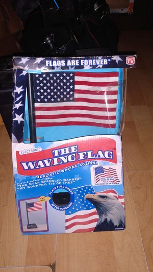 Electronic waving American flag for Sale in Tracy City, TN