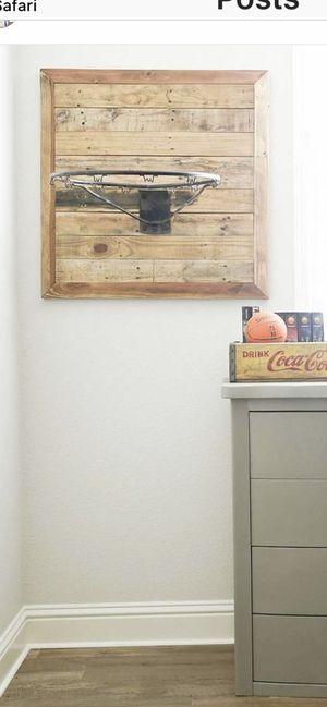 Reclaimed wood vintage basketball hoop for Sale in Clovis, CA