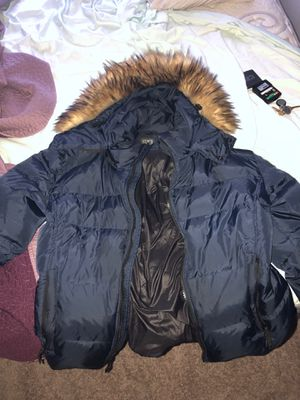 Large Luxury Mans S13 fur hood New York jacket for cheap❗️(Perfect condition) for Sale in Takoma Park, MD