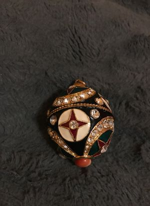 Fabergè style egg - Black gold and jewel tones for Sale, used for sale  Nutley, NJ