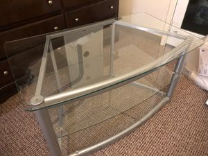 Glass tv stand for Sale in Chatsworth, CA