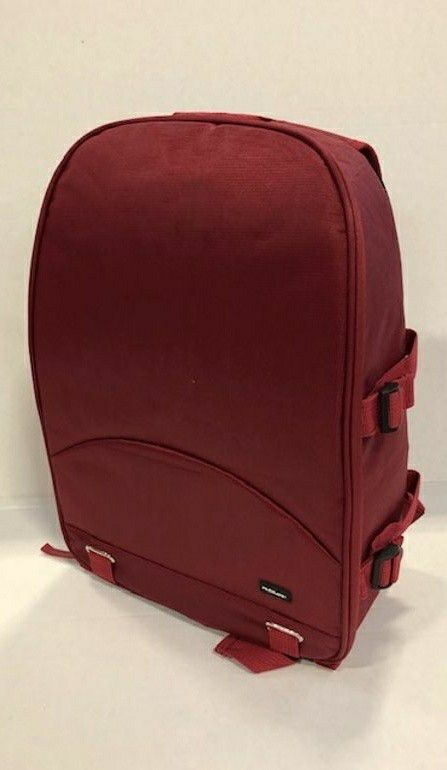 New in box Dark Red Deluxe SLR Camera Cushion Backpack Tripod Holder 13x7x16 inches