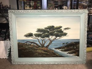 Seascape with Cypress tree Painting on Canvas 24 x 36 for Sale in Westminster, CA