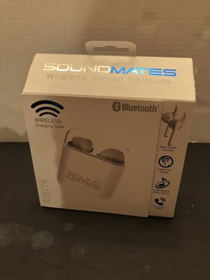 New Tzumi Sound Mates Bluetooth Wireless Earbuds Headphones With Charging Case for Sale in Miami, FL