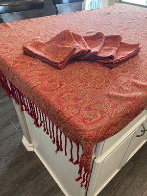 Crate and barrel table cloth 5-1/2 x 3-1/2. Perfect for square table or kitchen island for Sale in Austin, TX