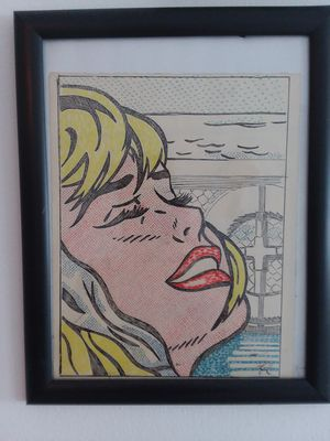 Pop art pen and ink drawing on paper. Signed RL on bottom right for Sale in West Palm Beach, FL