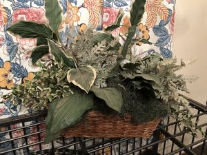 Fake plant basket decor for Sale in Round Rock, TX