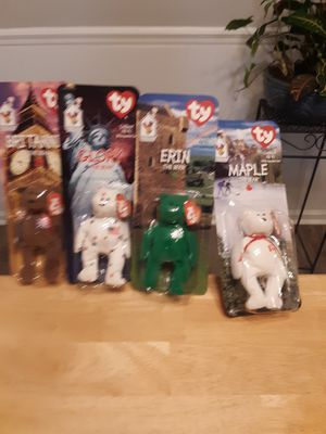 McDonald's international beanie babies with all errors mint condition for Sale in North Charleston, SC