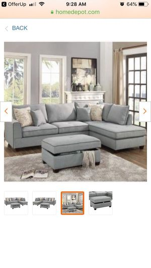 Grey fabric. SOFA - CHAISE LOUNGE for Sale in Mesa, AZ