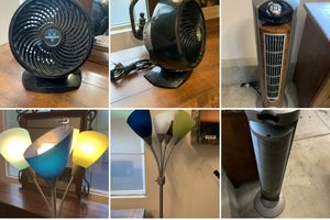 Tall lamp and two fans for Sale in Irvine, CA