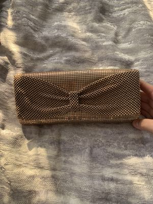 Rose gold shimmery clutch purse for Sale in Irvine, CA