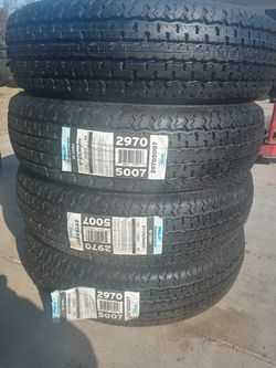 185/80/13 st trailer tires new price $200 set of four for Sale in Santa Ana,  CA