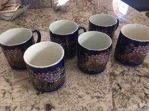 Cobalt Blue Coffee Mug set of six HERITAGE MINT LTD. L. A. C. A.' 'JAPAN'. for Sale in Sanger, CA