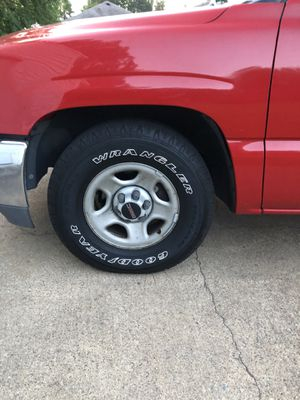 Up for sale ...all four matching tires GMC rims P265/70R16 80% tread life left for Sale in Portsmouth, VA
