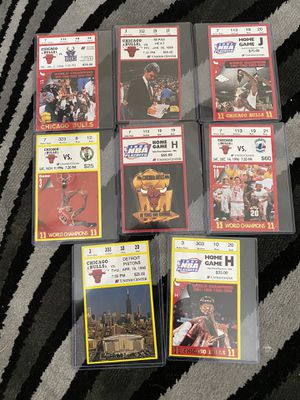 "Chicago bulls tickets ""96-98"" CHAMPION YEARS for Sale in Florissant, MO"