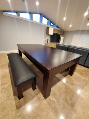 Wood Pool Combination Dining Table for Sale in Boca Raton, FL