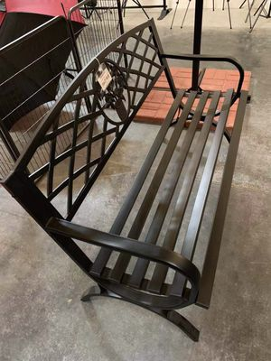 New in box $70 each 500 lbs weight capacity 50x24x34 inches tall outdoor patio garden steel bench chair banco al aire libre for Sale in La Mirada, CA