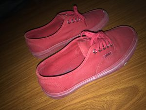 Authentic Vans Red (Size 7)Men's for Sale in Pembroke Pines, FL