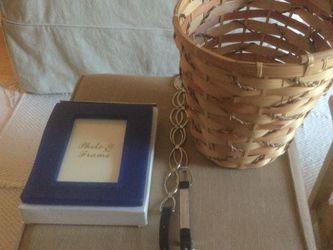 Free Wicker Basket, Picture Frame, Belt for Sale in Montclair, NJ