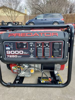 PREDATOR 9000 Watt Max Starting Extra Long Life Gas Powered Generator for Sale in San Antonio, TX