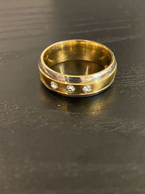 Unisex 18K Gold plated Engagement/ Wedding Ring for Sale in Houston, TX