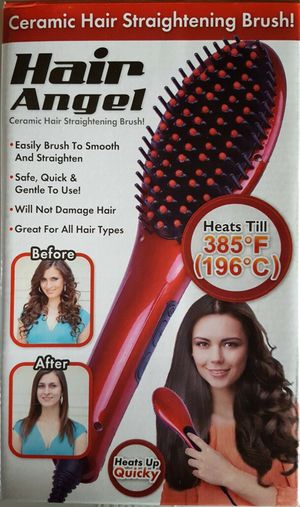 Hair Angel Straightening Brush Temp Control Ceramic for Sale in Rancho Cucamonga, CA