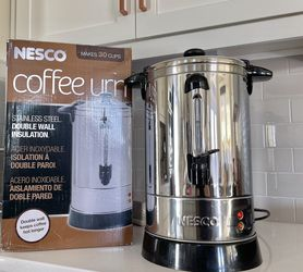 30 Cup coffee Urn, like new, Stainless Steel Double Wall Insulation for Sale in Meridian,  ID