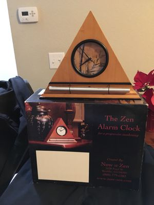 Wooden pyramid Zen alarm clock for Sale in Denver, CO