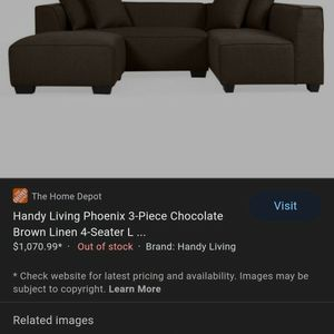 Couche Sectional Brown for Sale in Farmersville, CA