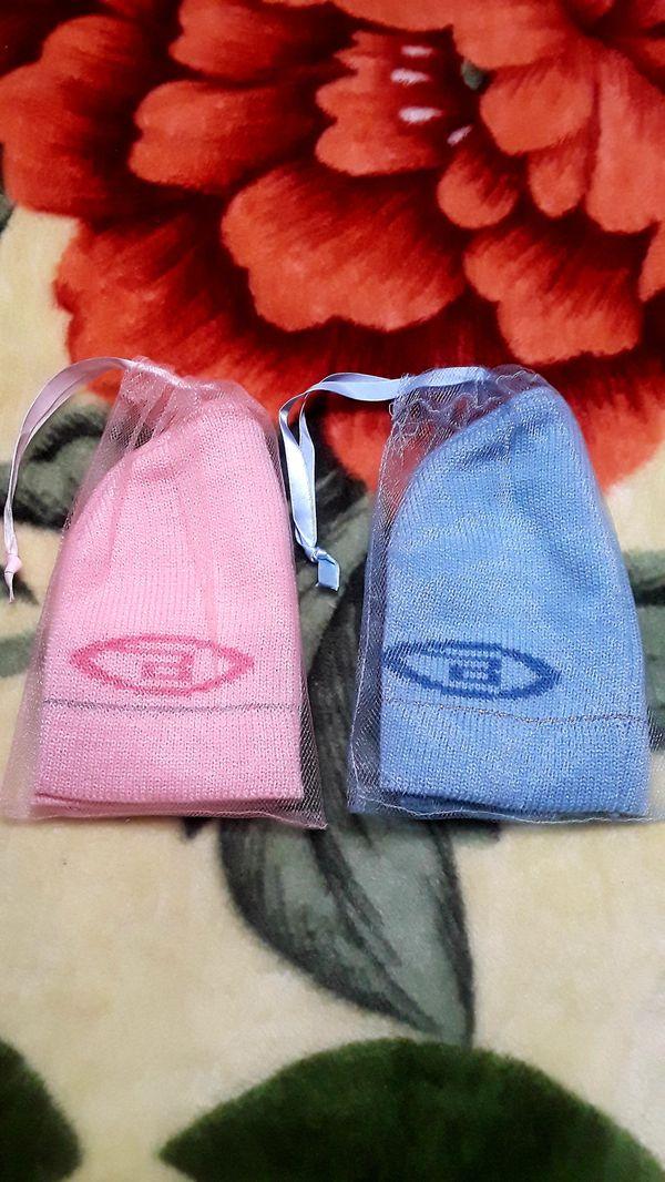 Bongo Brand Womens/Girls Knitted Beanie Hats (Set of 2) NWOT