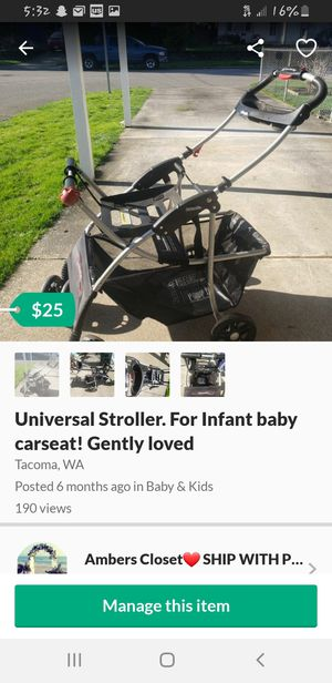 Baby car seat stroller. Good condition for Sale in Tacoma, WA