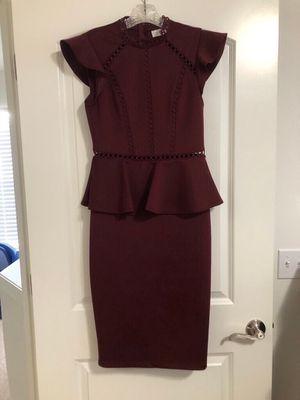 Peplum Cocktail Dress (maroon) for Sale in Wixom, MI