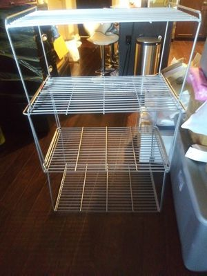 Metal 4piece stackable storage rack for Sale in Arlington, VA