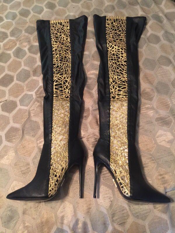 Brand New Thigh High Dawn Richard Heel Boots