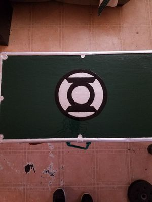 Restored Green Lantern Inspired Antique Suitcase for Sale in Baton Rouge, LA